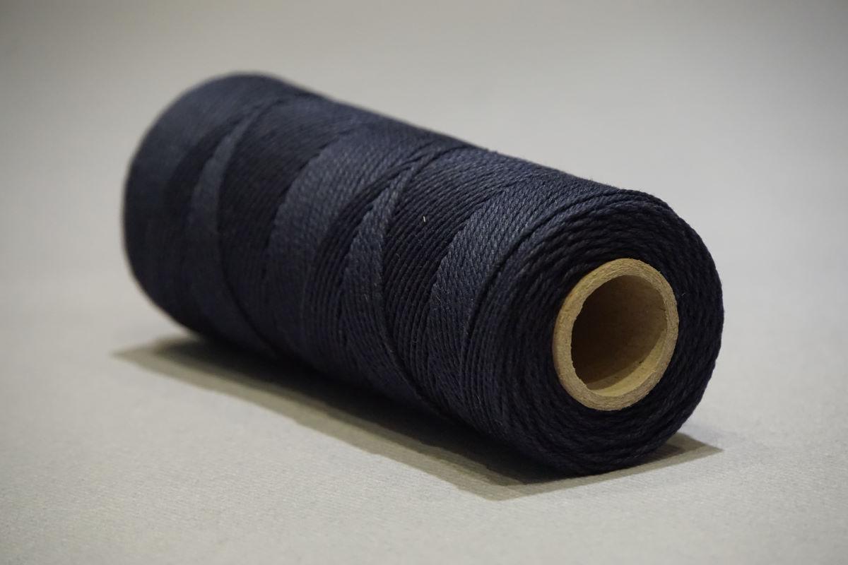 Ficelle en coton ø1 mm. - bobines 200 gr.   bleu fonçé