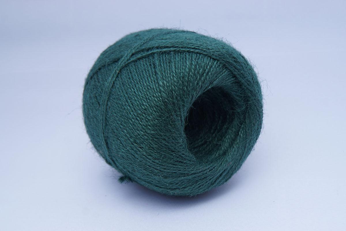 Jutetouw 2/1500 - bollen 500 gr  donker groen
