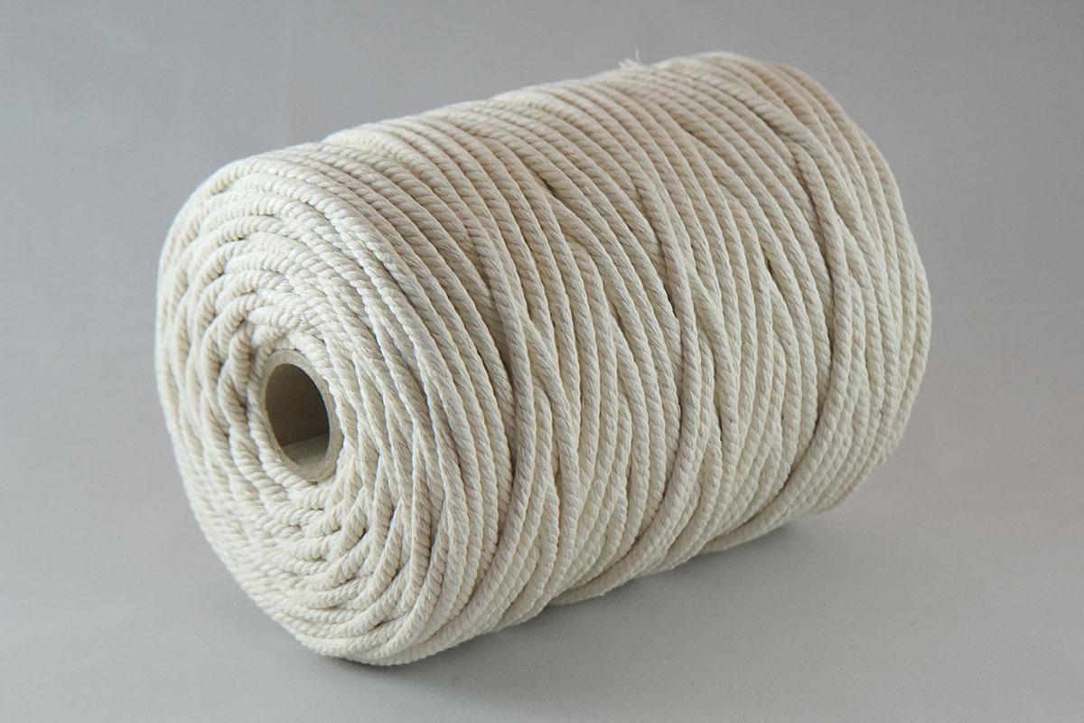 Ficelle en coton ø5 mm. - bobines 1000 gr.  écru