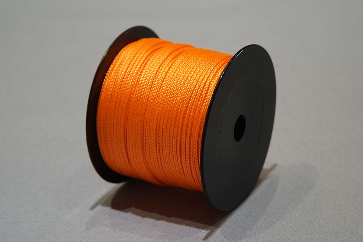 Gevlochten Nylon ø2 mm. - bobijnen 210 gr.  fluo oranje