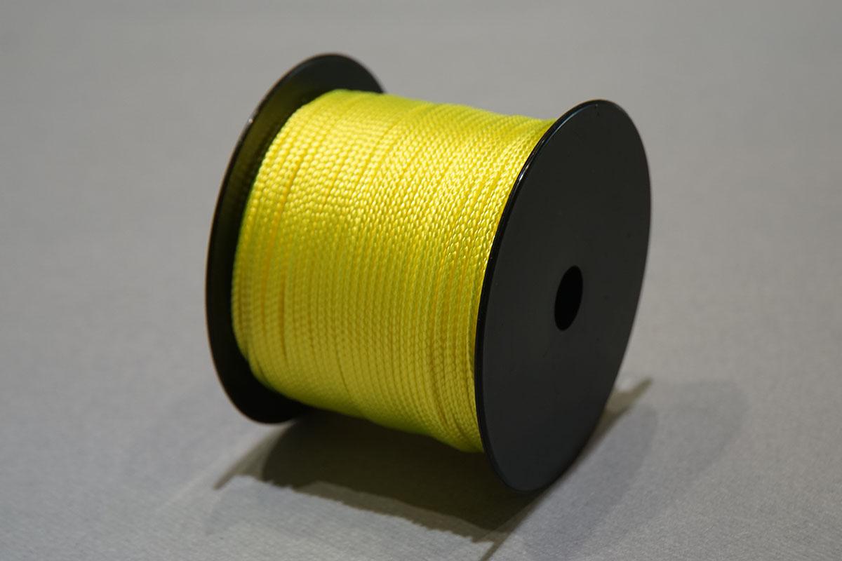 Nylon tressé ø2 mm. - bobines 210 gr.  jaune fluo