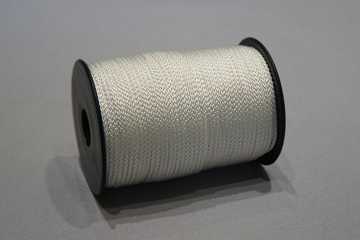 Gevlochten Nylon ø3 mm. - bobijnen 450  wit