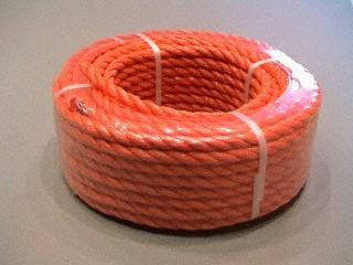P.P. oranje 8 mm. - rollen 20 M.