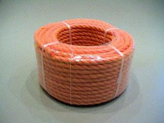 P.P. oranje 8 mm. - rollen 30 M.