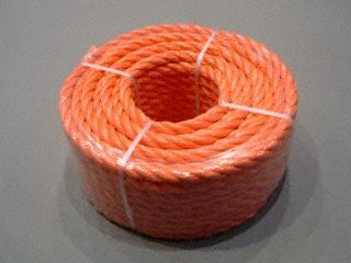 P.P. oranje 12 mm. - rollen 30 M.